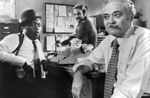 "<p>Actors Tony King and Albert Seedman on set of the United Artists movie ""Report to the Commissioner"" in 1975. (Photo by Michael Ochs Archives/Getty Images)</p>"