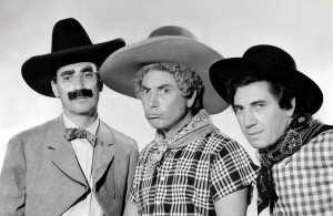 <p>1940 Marx Brothers in Go West</p>