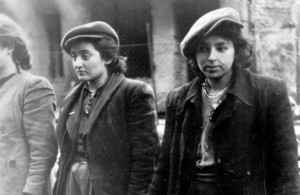 <p>Women prisoners. Copy of German photograph taken during the destruction of the Warsaw Ghetto, Poland, 1943. (WWII War Crimes Records) Exact Date Shot Unknown NARA FILE #: 238-NT-281 WAR & CONFLICT BOOK #: 1277</p>