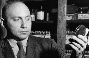 <p>Joshua Lederberg, professor of genetics at the University of Wisconsin-Madison from 1947 to 1959, is pictured during the 1950s. Lederberg received the Nobel Prize in 1958. � UW-Madison University Communications 608/262-0067 Photo by: Courtesy UW-Madison University Archives Date: circa 1950s File#: 9209-224-4</p>