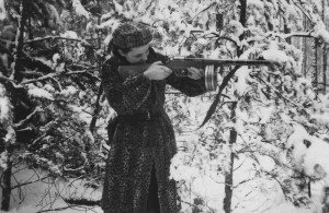 <p>HANDOUT IMAGE: Faye Schulman, a partisan fighter during World War II, in a forest near the city of Pinsk in late winter 1943. Ms. Schulman died April 24, 2021, in Toronto. She was 101. (Jewish Partisan Educational Foundation/A Partisan's Memoir: Woman of the Holocaust/Second Story Press) MANDATORY CREDIT</p>