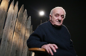"<p>MOSCOW, RUSSIA. FEBRUARY 11, 2016. Georgian theatre and film director, playwright, writer, painter and sculptor Revaz ""Rezo"" Gabriadze attends a multimedia exhibition of his works marking his 80th birthday at the Museum of Moscow. Vyacheslav Prokofyev/TASS ������. ������. 11 ������� 2016. ���������� �������� ���� ��������� �� �������������� ��������, ����������� ������ 80-�����, � ����� ������. �������� ���������/����</p>"