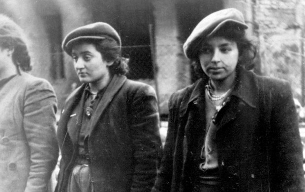 <p>Women prisoners. Copy of German photograph taken during the destruction of the Warsaw Ghetto, Poland, 1943. (WWII War Crimes Records) Exact Date Shot Unknown NARA FILE #: 238-NT-281 WAR &amp; CONFLICT BOOK #: 1277</p>