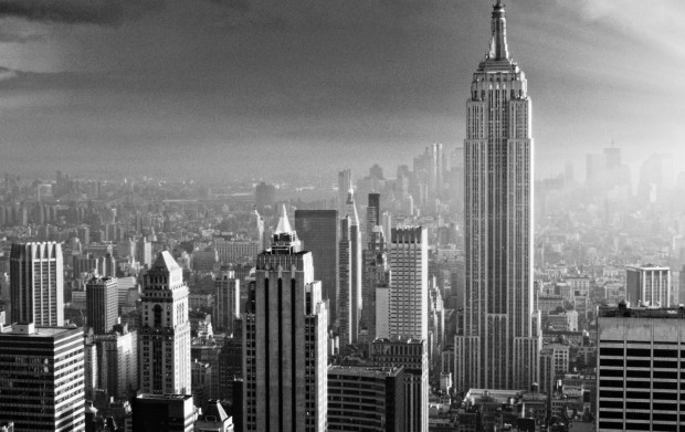 <p>NYC Skyline. Black And White.</p>