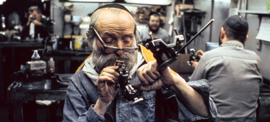 <p>NEW YORK, NY � OCTOBER 19, 1972: Hasidic Jewish man with beard and yarmulke examines with a magnifying glass a diamond that he is polishing in 47th Street workshop in Manhattan, New York on October 19, 1972. The workers at this diamond workshop on 47th Street are religious and observant Jews mostly of the Satmer Hasidim community in Williamsburg, Brooklyn and rent space at the diamond processors workshop for grinding diamonds. (Photo by Nathan Benn/Corbis via Getty Images)</p>