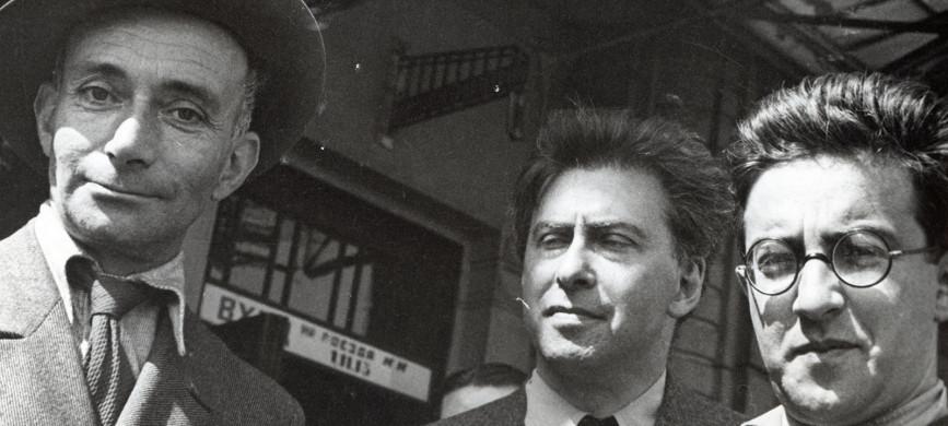 <p>Жан Ришар Блок, Илья Эренбург и Михаил Кольцов. Фото Ольги Игнатович, 1936 г.</p>