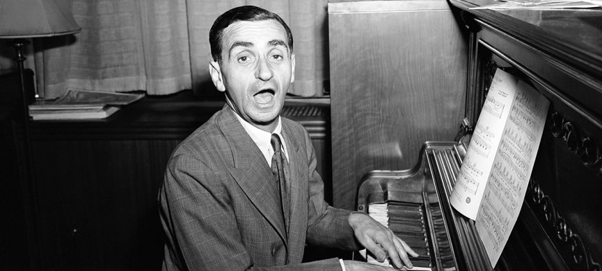 "<p>""Be Careful, It's My Heart,"" is the song Irving Berlin sings during an interview in Berlin's New York office, July 16, 1942. Besides appearing in the army relief show, ""This Is The Army"" which he wrote and produced, the noted composer has written several new songs for a movie. (AP Photo/Murray Becker)</p>"