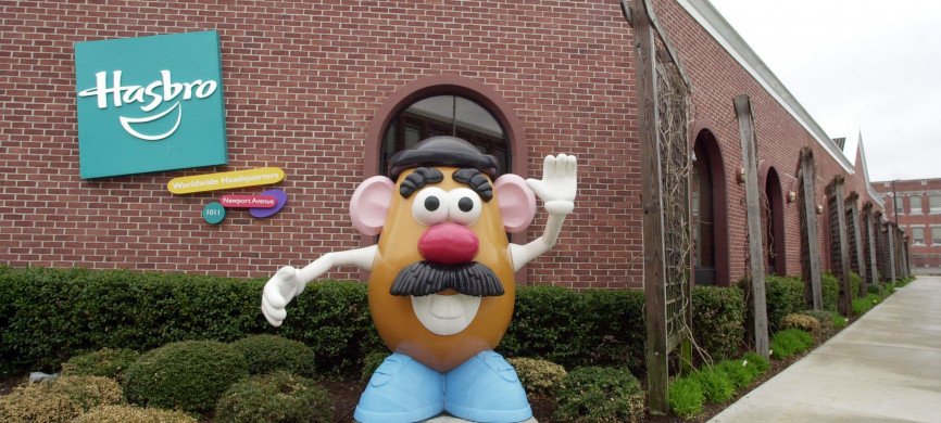 <p>UNITED STATES - APRIL 23: A statue of Mr. Potato Head greets visitors to the corporate headquarters of toymaker Hasbro Inc. in Pawtucket, Rhode Island, on Friday, April 23, 2004. (Photo by Michael Springer/Bloomberg via Getty Images)</p>