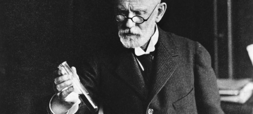 <p>Der Mediziner bei einem chemischen Versuch. Paul Ehrlich, ein Mitarbeiter von Robert Koch und Leiter des Instituts fr experimentelle Therapie in Frankfurt am Main wurde 1908 (zusammen mit I. Metschnikow) mit dem Nobelpreis fr Medizin ausgezeichnet. Paul Ehrlich wurde am 14. Mrz 1854 in Strehlen (Schlesien) geboren und ist am 20. August 1915 in Bad Homburg v.d.H. gestorben. | Verwendung weltweit</p>